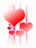 Diseño del corazón que brilla intensamente Imagenes de archivo