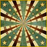 Diseño del cuadrado de las estrellas y de los rayos de Grunge Imagen de archivo