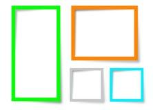 Diseño del cuadro de texto Imagenes de archivo