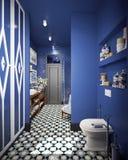 Diseño del cuarto de baño Fotografía de archivo libre de regalías
