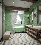 Diseño del cuarto de baño Fotos de archivo libres de regalías