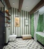 Diseño del cuarto de baño Fotografía de archivo