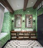 Diseño del cuarto de baño Fotos de archivo