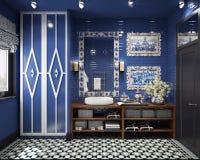 Diseño del cuarto de baño Imagen de archivo libre de regalías