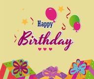 Diseño del cumpleaños libre illustration
