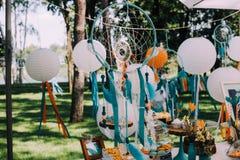 Diseño del día de fiesta para el día de fiesta de los niños en estilo del boho Fotografía de archivo libre de regalías