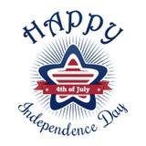 Diseño del Día de la Independencia de los E.E.U.U. stock de ilustración
