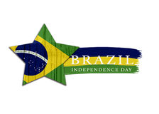 Diseño del Día de la Independencia del Brasil Fotografía de archivo