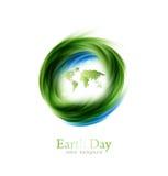 Diseño del Día de la Tierra Foto de archivo