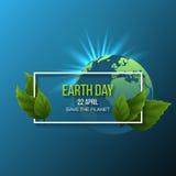 Diseño del Día de la Tierra Imagenes de archivo