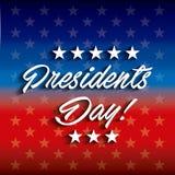 Diseño del día de los presidentes stock de ilustración