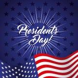Diseño del día de los presidentes ilustración del vector