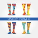 Diseño del día de Síndrome de Down Fotos de archivo