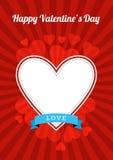 Diseño del día de tarjeta del día de San Valentín Imagen de archivo