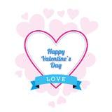 Diseño del día de tarjeta del día de San Valentín Fotos de archivo