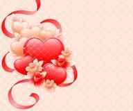 Diseño del día de tarjetas del día de San Valentín. stock de ilustración