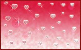 Diseño del día de tarjetas del día de San Valentín de los corazones Imágenes de archivo libres de regalías