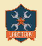 Diseño del Día del Trabajo ilustración del vector