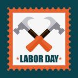 Diseño del Día del Trabajo Imagen de archivo libre de regalías