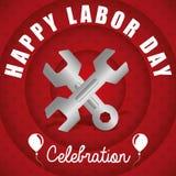 Diseño del Día del Trabajo Fotografía de archivo