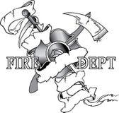 Diseño del departamento del fuego Imagen de archivo libre de regalías
