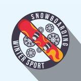 Diseño del deporte de invierno Imagenes de archivo