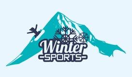 Diseño del deporte de invierno Fotografía de archivo libre de regalías