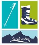 Diseño del deporte de invierno Fotos de archivo libres de regalías