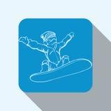 Diseño del deporte de invierno Foto de archivo libre de regalías