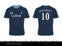 Diseño del deporte de la camiseta para el club del fútbol, el frente y el uniforme trasero del jersey de fútbol de la visión, mof stock de ilustración