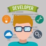 Diseño del desarrollador de web Foto de archivo