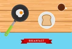 Diseño del desayuno Imagen de archivo libre de regalías