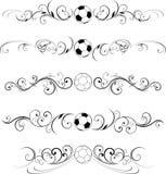 Diseño del desfile del fútbol Foto de archivo libre de regalías