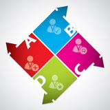 Diseño del diagrama del asunto con los iconos sociales de los media Fotos de archivo libres de regalías
