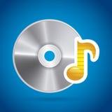 Diseño del disco compacto Imagen de archivo