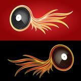 Diseño del disco de la música ilustración del vector