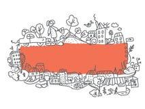 Diseño del doodle de la ciudad del capítulo