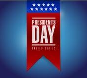 Diseño del ejemplo de la bandera del día de los presidentes stock de ilustración