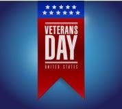 Diseño del ejemplo de la bandera del día de veteranos Fotos de archivo