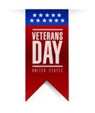 Diseño del ejemplo de la bandera del día de veteranos Imagen de archivo