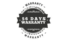 diseño del ejemplo de la garantía de 56 días ilustración del vector