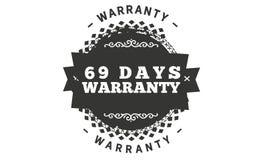 diseño del ejemplo de la garantía de 69 días stock de ilustración