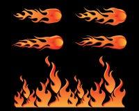 Diseño del ejemplo de la llama ilustración del vector