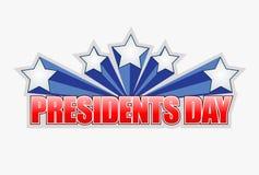 diseño del ejemplo de la muestra del día de los presidentes stock de ilustración