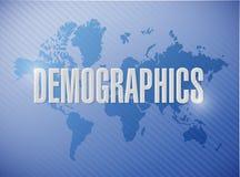 diseño del ejemplo de la muestra del demographics stock de ilustración