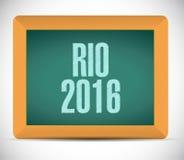 diseño del ejemplo de la muestra del tablero de Río 2016 Fotos de archivo