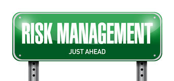 diseño del ejemplo de la placa de calle de la gestión de riesgos Imágenes de archivo libres de regalías