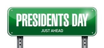 diseño del ejemplo de la placa de calle del día de los presidentes libre illustration