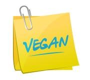 diseño del ejemplo de los posts de la nota del vegano Fotografía de archivo