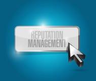 diseño del ejemplo del botón de la gestión de la reputación Imagen de archivo